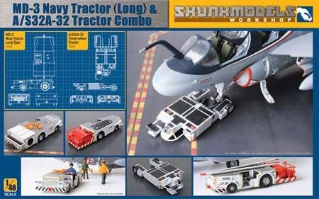 SKUNKMODEL Workshop SW-48005 MD-3 Navy Tractor (long)&A/S32A-32 trCom