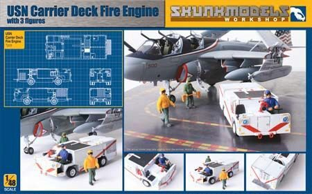 SKUNKMODEL Workshop SW-48007 USN FIRE EINGINE with 3 figures