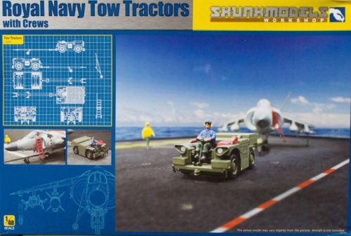 SKUNKMODEL Workshop SW-48017 Royal Navy Tow Tractors with Crews