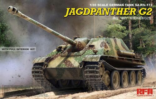 Rye Field Model RM-5022 Jagdpanther G2 with full interior&workab track links