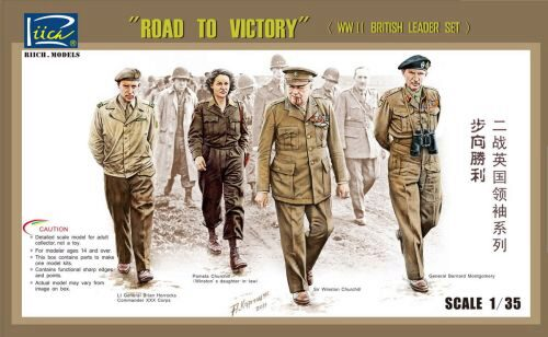 Riich Models RV35023 WWII Britis Leader set(ROAD TO VICTORY)