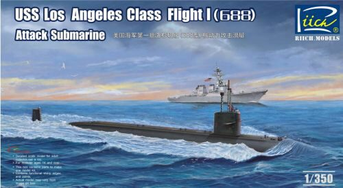 Riich Models RN28005 USS Los Angeles Class Flight I(688) Atta Attack Submarine