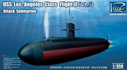 Riich Models RN28006 USS Los Angeles Class Flight II(VLS) Att Attack Submarine
