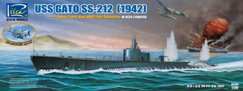Riich Models RS20001 USS Gato SS-212 Fleet Submarine 1942