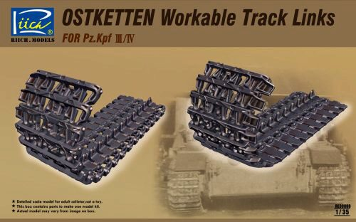 Riich Models RE30008 Ostketten Workable Track Links for Pz.Kp Kpfw III/IV & StuG III