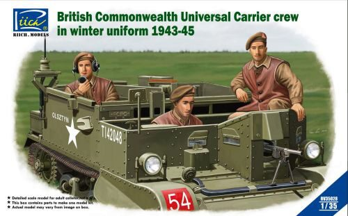 Riich Models RV35028 British Commenwealth Universal Carrier crew in winter Uniform 1943-45