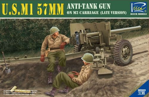 Riich Models RV35020 U.S.M1 57mm Anti-tank Gun on M2 carriage Late Version