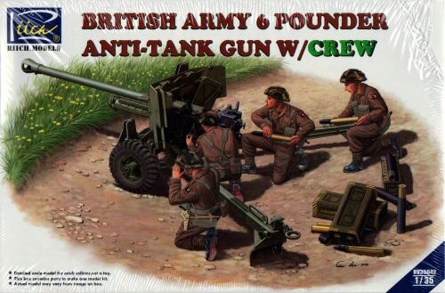 Riich Models RV35042 British Army 6 Pounder Infantry Anti-tank Gun w/Crews (4 figures)