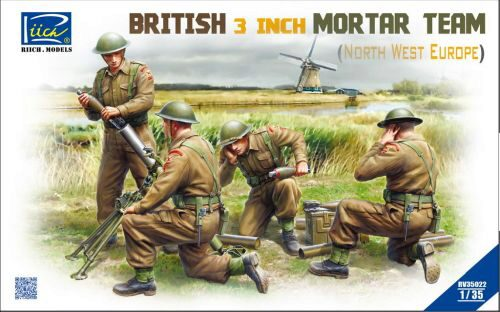 Riich Models RV35022 British 3 inch Mortar Team set (North West Europe)