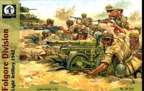 WATERLOO 1815 AP014 Folgore Division Light Artillery, 1942