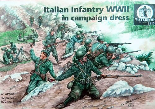 WATERLOO 1815 AP040 Italian Infantry WWII in campaign dress