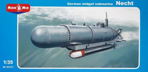 Micro Mir  AMP MM35-017 German midget submarine Necht