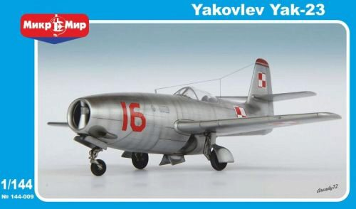 Micro Mir  AMP MM144-009 Yakovlev Yak-23 Soviet fighter