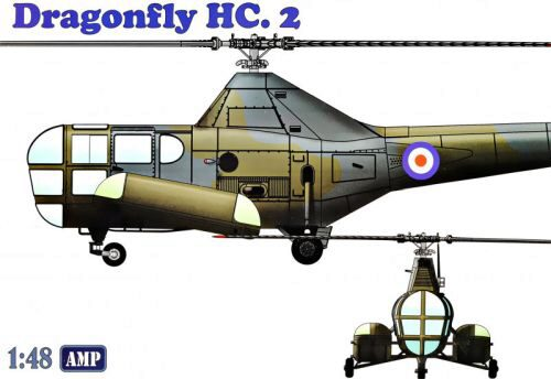 Micro Mir  AMP AMP48003 Westland WS-51 Dragonfly HC.2 rescue