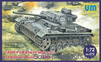 Unimodels UM272 Pz.Kpfw III Ausf.L German tank with protective screen
