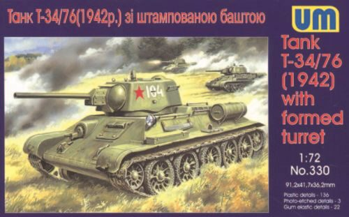 Unimodels UM330 Tank T-34/76 (1942) with formed turret