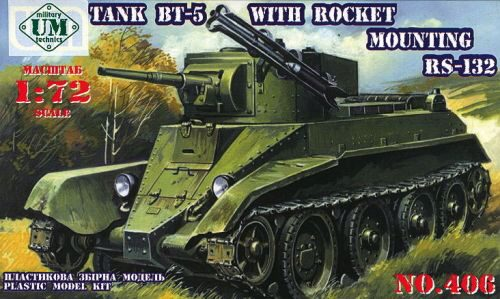 Unimodels UMT406 Tank BT-5 with rocket mounting RS-132
