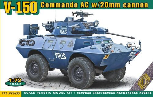 ACE ACE72430 V-150 Commando AC w/20mm cannon