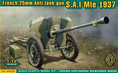 ACE 72522 S.A:I Mle 1937 French 25mm anti-tank gun
