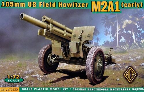 ACE ACE72530 US 105mm howitzer M2A1 w/M2 gun carriage