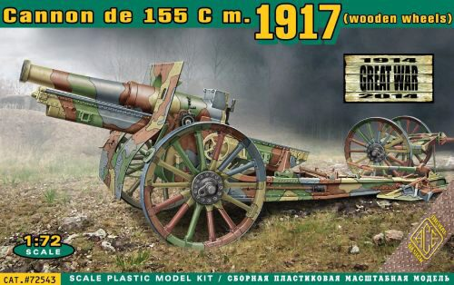 ACE 72543 Cannon de 155 C m.1917 (wooden wheels)