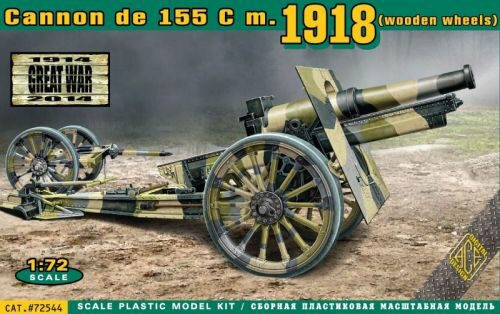 ACE 72544 Cannon de 155 C m.1918 (wooden wheels)
