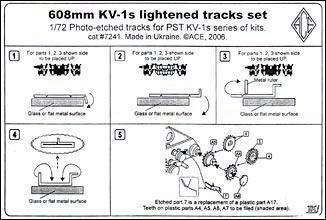 ACE PE7241 KV-1s 608mm lightened tracks set
