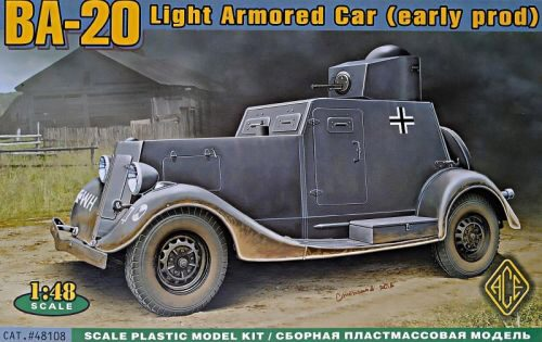 ACE ACE48108 BA-20 light armored car, early prod.