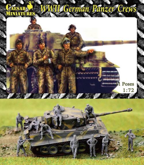 Caesar Miniatures HB03 WWII German Panzer Crews