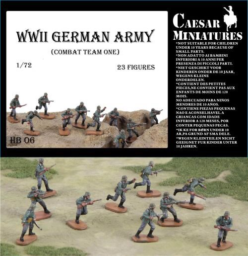Caesar Miniatures HB06 WWII Germans Army (combat team one)
