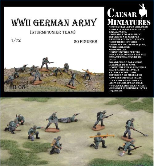 Caesar Miniatures HB08 WWII Germans Army (Sturmpionier Team)