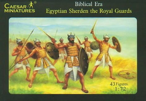 Caesar Miniatures H050 Egyptian Sherden the Royal Guard