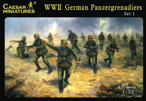 Caesar Miniatures H052 WWII German Panzergrenadiers Set 1