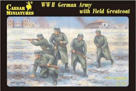 Caesar Miniatures H069 WWII German Army with Field Greatcoat