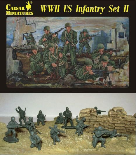 Caesar Miniatures H071 WWII US Infantry Set II