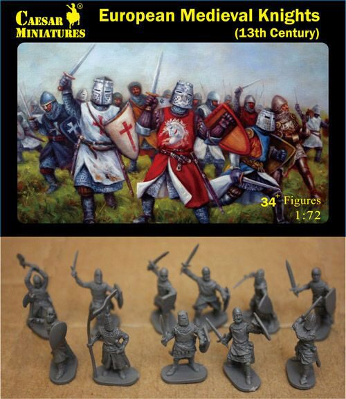 Caesar Miniatures H087 European Medieval Knights, 13th Century