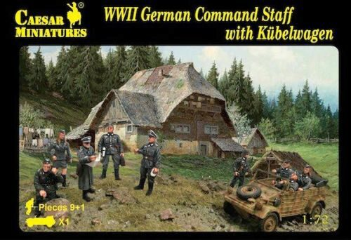 Caesar Miniatures H095 WWII German Command Staff with Kübelwage