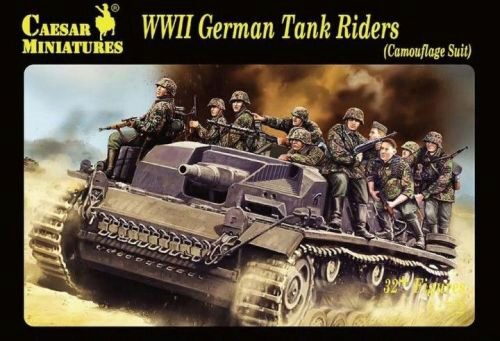 Caesar Miniatures H099 WWII German Tank Rider(Camouflage Suit)