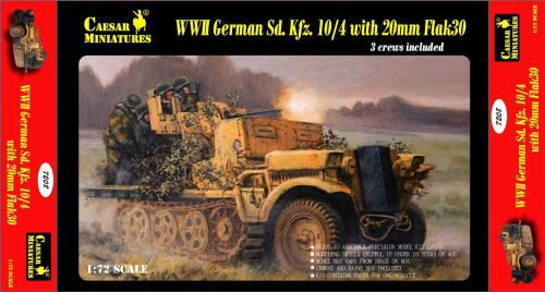 Caesar Miniatures 7208 WWII German Sd.Kfz.10/4 w/20mm Flak 30