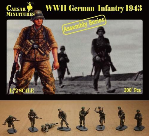 Caesar Miniatures CM7711 German Infantry 1943