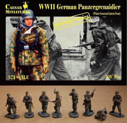 Caesar Miniatures CM7714 German Panzergrenaidier(Winter Greatcoat