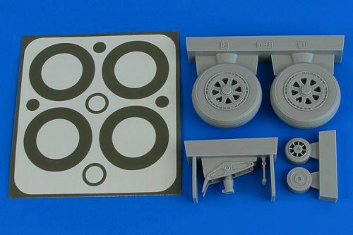 Aires 2227 A1H Skyraider wheels & paint masks for Trumpeter