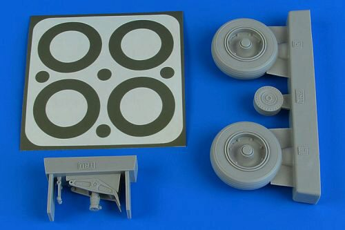 Aires 2231 A-1J Skyraider wheels & paint masks f.Trumpeter