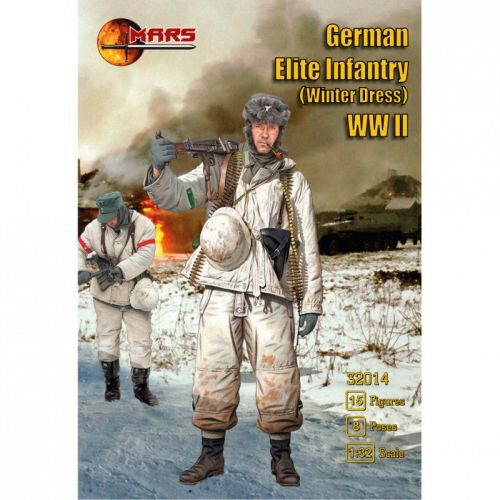Mars Figures MS32014 German Elite Infantry (winter dress) WWI