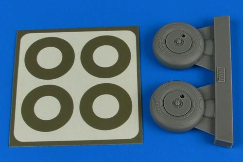 Aires 2237 Spitfire Mk.IX wheels (covered) & paint masks for Tamiya