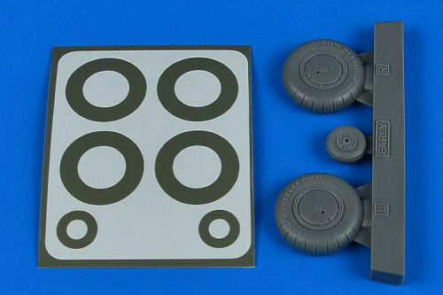 Aires 2245 Bf 108 wheels & paint masks - early for Eduard