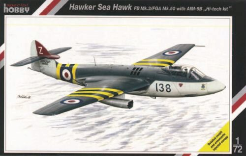 Special Hobby SH72080 Hawker Sea Hawk FB Mk.3/FGA Mk.50 with AIM9