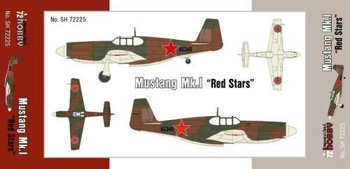 Special Hobby SH72225 Mustang Mk.1 Red Stars