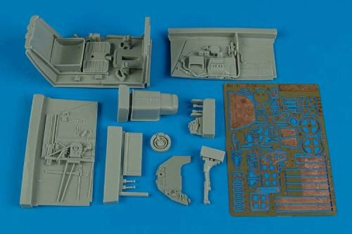 Aires 2141 Bf 109F-2/F-4 cockpit set for Hasegawa