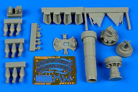 Aires 7317 MiG-15bis engine set for Eduard